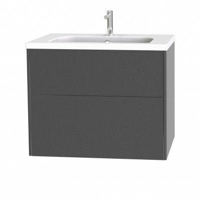 Tvättställsskåp Miller Badrum Brooklyn 80 med Lådor för Heltäckande Tvättställ