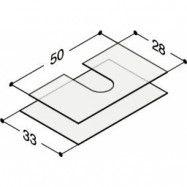 Dansani Luna gummimatta för kommod låddjup 44 cm lådbredd 60 cm