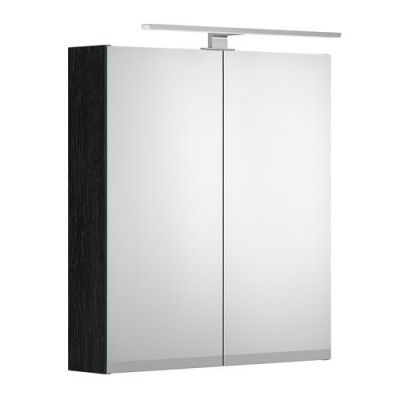 Spegelskåp Gustavsberg Artic 600 mm, Svart ek