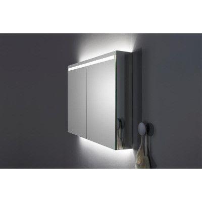 INR 120 Spegelskåp 120x72 mm med Infälld Ovanbelysning