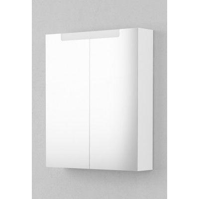 INR 60 Spegelskåp 60x72 mm, Vit med Underbelysning LED 60