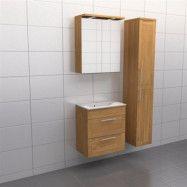 Ek ram Källa Lugn 60 cm, Spegelskåp, Ja + 30 cm