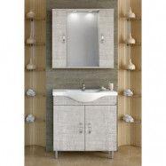 Möbelpaket Alba 80 beige med spegelskåp (2 skåp)