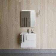 Möbelpaket INR Viskan Grip 60 med Tvättställ och Spegelskåp