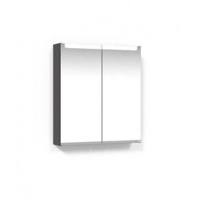 Macro Design Soul Spegelskåp 600 Grå Infälld LED