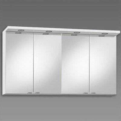 Spegelskåp Källa 1200 mm, Vit högblank