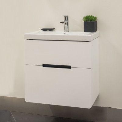 Tvättställsskåp Arredo Soft 60 Vit Högblank