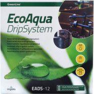 Droppbevattningskit GreenLine Solcell EcoAqua DripSystem 12