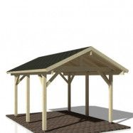 Carport Robert Shingel, 11,7 m², Obehandlad