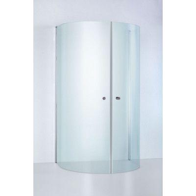 U-Dusch Duschbyggarna Round De Luxe 930X800 Klarglas