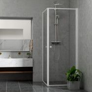 Duschhörn Bathlife Profil Rak Dörr + Rak Dörr Vit