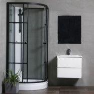 Duschkabin Bathlife Betrakta 80x80 Svart/Vit