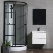 Duschkabin Bathlife Betrakta 90x90 Svart/Vit