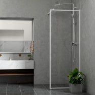 Duschvägg Bathlife Profil Rak Vit