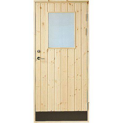 Dörr 18° panel Jabo Förrådsdörr Glas 9 x 20, Höger