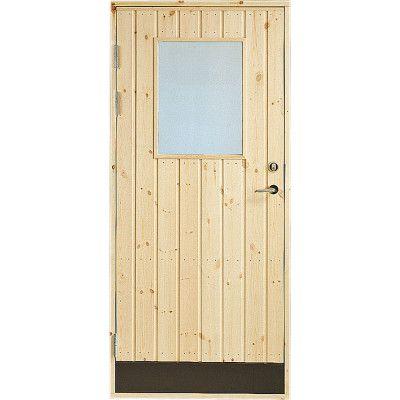 Dörr 18° panel Jabo Förrådsdörr Glas 9 x 20, Vänster
