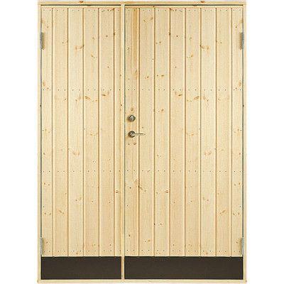 Dubbeldörr 10° panel Jabo Förrådsdörr 13 x 19