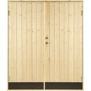 Dubbeldörr 10° panel Jabo Förrådsdörr 15,3 x 19