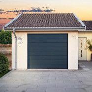 Garageport Advant Complete - Panel 2400 x 2000, Vit, Låskit förberett för ASSA