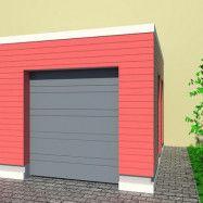 Garageport Advant Complete - Trend 2400 x 2000, Antracitgrå, Aperto motor