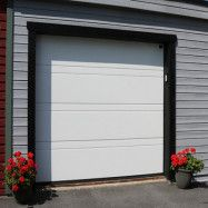 Garageport Advant Complete - Trend 2400 x 2000, Vit, Låskit förberett för ASSA