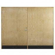 Garageport 18° Rak Panel (vänsterhängd)