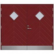 Slagport Saxtorp 2500 x 2100 mm, Klarglas, Röd