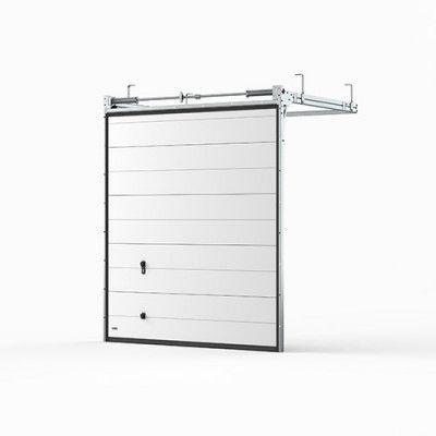 Garageport Takskjutport Modern Panel Vit, 2400x2000