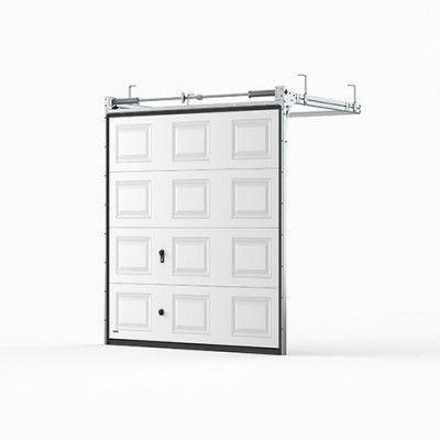 Garageport Takskjutport Modern Spegel Vit, 2400x2125