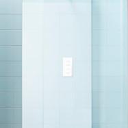 INR FRONT Kakel Rund Takdusch - Blandarvägg vit inkl termostatblandare