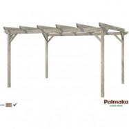 Paviljong Paula - 12,6 m² - Grå djupimpregnerad