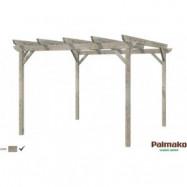 Paviljong Paula - 9,5 m² - Grå djupimpregnerad