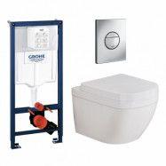 Vägghängd Toalettstol Grohe Euro Ceramic 39328 Komplett