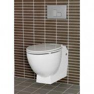 Vägghängd Toalettstol Relax U Hafa Komplett Med Kromad Spolknapp