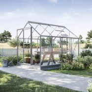 Växthus Bruka 5,0 m², Aluminium, Glas