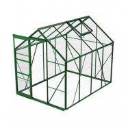 Växthus Bruka 5,0 m², Grön, Glas