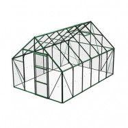 Växthus Bruka 9,9 m², Grön, Glas