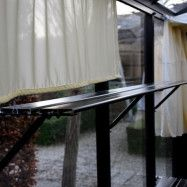 Till växthus och orangeri Oas Hylla 23 cm, Svart