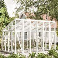 Växthus i trä med pulpettak Knoppa 17,5 m² 17,5 m²