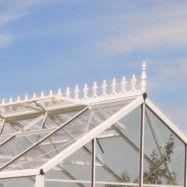 Till växthus Spira mur Nockdekor - Vit 17,3 m²