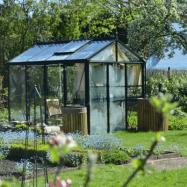 Växthus Oas Master 7,3 m², Victorian Svart