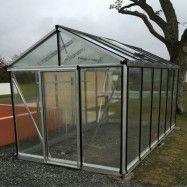 Växthus Oas Senior 10,8 m², Hobby Aluminium