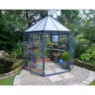 Oasis - Sexkantigt växthus 4m²