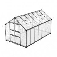 Växthus Odla 11,4–14,1 m² 11,4 m², Aluminium, Kanalplast