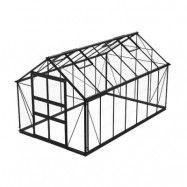 Växthus Odla 11,4 - 14,1 m² 11,4 m², Svart, Glas