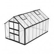 Växthus Odla 11,4 - 14,1 m² 11,4 m², Svart, Kanalplast