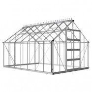 Växthus Odla 11,4 - 14,1 m² 14,1 m², Aluminium, Kanalplast