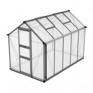 Växthus Odla 4,9 - 6,0 m² 6,0 m², Aluminium, Kanalplast
