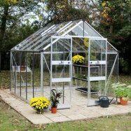 Växthus Odla 8,2 - 9,8 m² 8,2 m², Aluminium, Glas