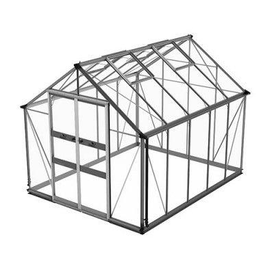 Växthus Odla 8,2 - 9,8 m² 8,2 m², Aluminium, Säkerhetsglas